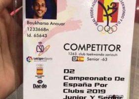 Après avoir jeté sa médaille à la mer, Boukharsa refait surface au championnat espagnol de taekwondo
